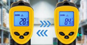 précision thermomètre infrarouge laser