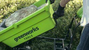 meilleure brouette électrique greenworks