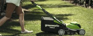 avis test essai tondeuse électrique gazon sans fil avec batterie GreenWorks G40LM35K2X